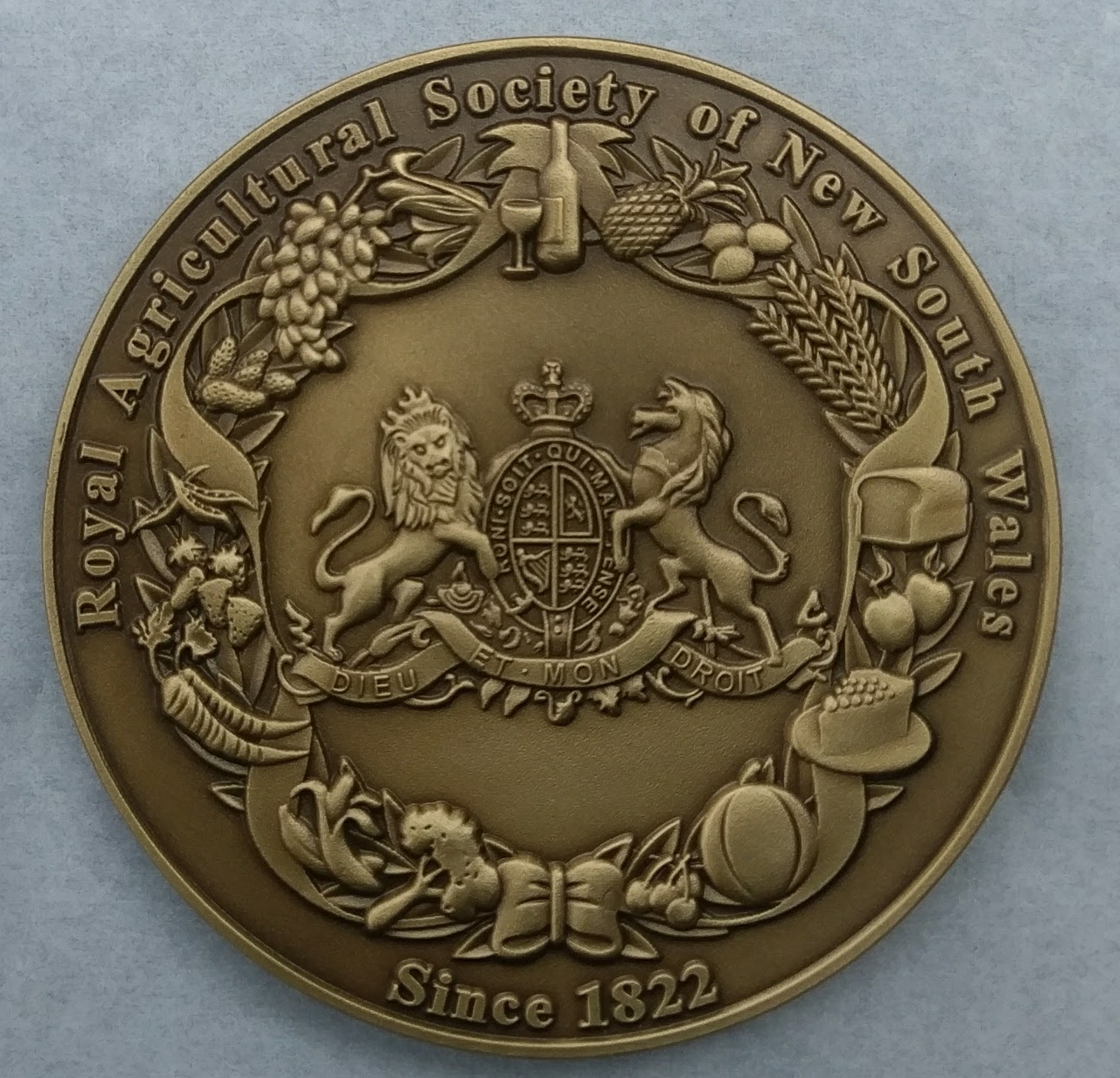Sydney Royal Medal of Excellence Reverse